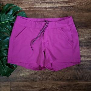 North Face Magenta Quick Dry Shorts